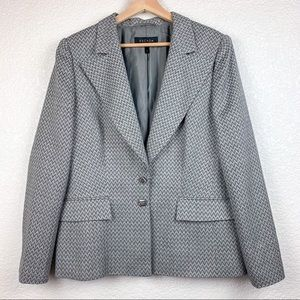 Vintage Escada Classic Grey Arrow chevron blazer